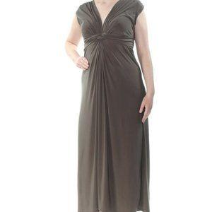 LOVE SQUARED Women Sz 2x Green Ruched Twist Dress